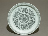 Porcelain saucer dish with flowers (EAX.1699)