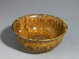 Bowl with marbled decoration