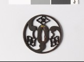 Round tsuba with karahana, or Chinese flowers