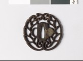 Tsuba with mon crest of the Hori of Iida family