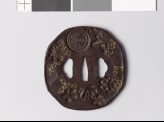 Octagonal tsuba with nine different stamps