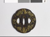 Mokkō-shaped tsuba with pine tree (EAX.10109)