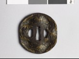 Tsuba with bamboo and snow (EAX.10111)