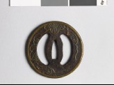 Tsuba with leaves and tendrils
