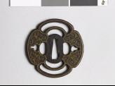 Mokkō-shaped tsuba with karakusa, or scrolling plant pattern (EAX.10113.a)