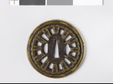 Round tsuba with wheel spokes and roped rim (EAX.10119)
