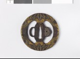 Tsuba with bamboo leaves and semicircles (EAX.10121)