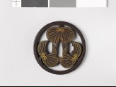 Round tsuba with three aoi, or hollyhock leaves (EAX.10160)
