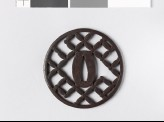 Round tsuba with shippō diaper of interlaced circles (EAX.10199)