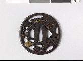 Tsuba with dragon and sacred pearl