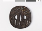 Tsuba depicting Shōki the Demon Queller (EAX.10270)