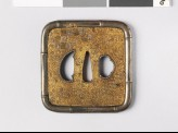 Tsuba with bamboo-shaped rim (EAX.10281)