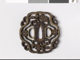 Tsuba with cruciform border and flowers (EAX.10287)