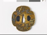 Mokkō-shaped tsuba with flowers and plants (EAX.10289)