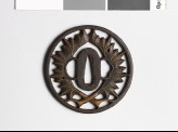 Tsuba with two leaves (EAX.10290)