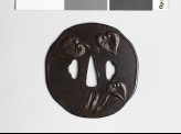 Tsuba with aoi, or hollyhock leaves