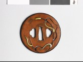 Round tsuba with millet plants (EAX.10295)