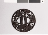 Tsuba with leaves