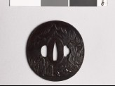 Tsuba with Chinese-style landscape (EAX.10346)