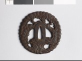 Tsuba in the form of a gnarled pine tree (EAX.10421)