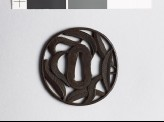 Tsuba with palm leaves