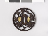 Round tsuba with flowering branch (EAX.10496)