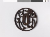 Round tsuba with tama, or sacred jewels (EAX.10517)