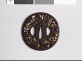 Tsuba with overlapping chrysanthemum leaves (EAX.10539)