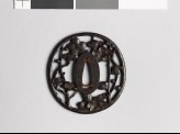 Tsuba with flowering plum branch (EAX.10548)