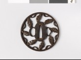 Round tsuba with dew drops and myōga, or ginger shoots