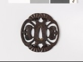 Mokkō-shaped tsuba with open fans