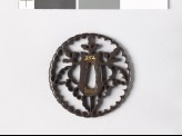 Tsuba with gosan-no-kiri, or paulownia leaves (EAX.10664)
