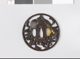 Tsuba with a saihai, or general's baton