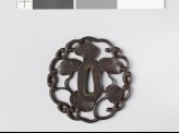 Tsuba with dewdrops on aoi, or hollyhock leaves (EAX.10782)