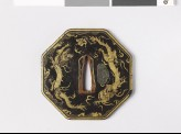Octagonal tsuba with dragons and clouds (EAX.10843)