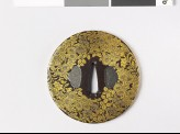 Round tsuba with asters, lespedeza, and gentian (EAX.10853)