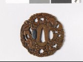 Mokkō-shaped tsuba with vine and squirrels