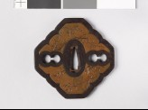 Tsuba with shikunshi, or Four Noble Plants (EAX.10999)