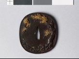 Tsuba with blossoming cherry tree