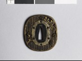 Tsuba with ants, paulownia, and chrysanthemum (EAX.11088)