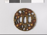 Tsuba with blossoming plum tree (EAX.11155)