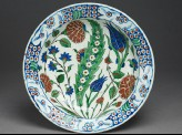 Dish with leaf and flowers