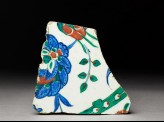 Tile fragment with peony