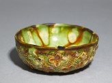 Bowl with floral decoration and three-colour glaze (EAX.3957)