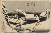 Evening Snow at Kanbara