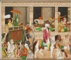 Maharaja Ranjit Singh in a bazaar (LI118.110)