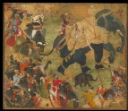 A prince riding an elephant in procession
