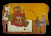 Maharaja Kirpal Pal of Basohli smoking a hookah