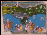 Maharana Amar Singh hunting sarus crane