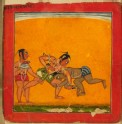 Wrestlers, illustrating the musical mode Raga Malava